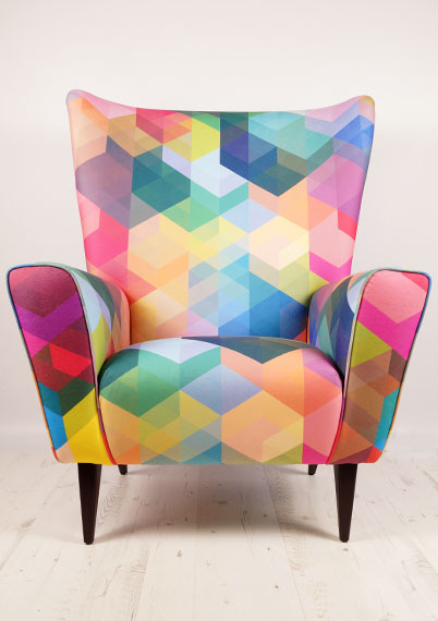 Cuben Array Wing Chair