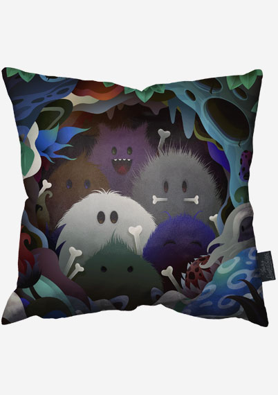 Furry Cannibals Pillow