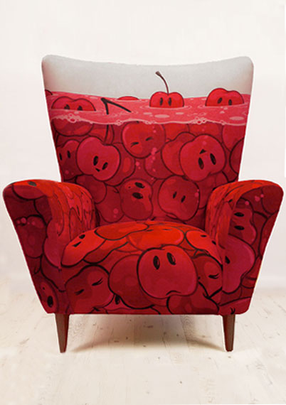 Cherries Wingchair
